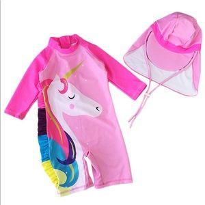Other - Unicorn sun protective swimwear 2 piece